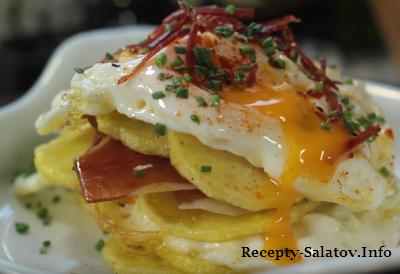 Яйца с хамоном