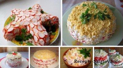 ТОП-6 салатов с крабовыми палочками
