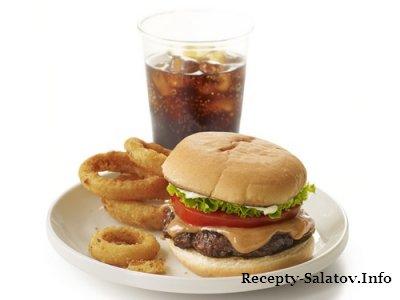Сочный мощный Гамбургер «Губер-бургер»