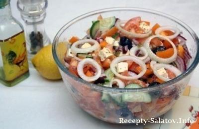 Греческий салат  из маслин без косточки