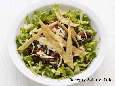 Мясной салат Тако из говяжего фарша