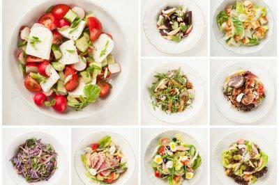 Топ 10 очень вкусных салатов  за 10 минут!