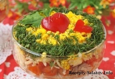 Салат «Нежность» из сочного тунца