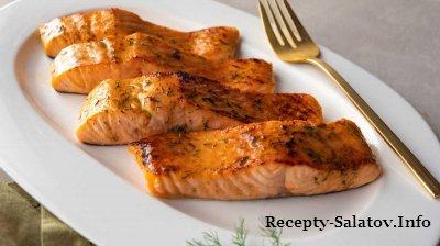 Карамельный  лосось с коричневым сахаром