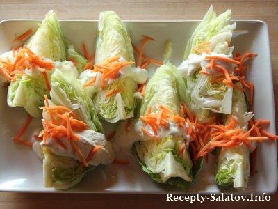 Салат листовой с пармезана и перца
