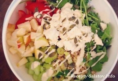 Топ 6 легких диетических салатов на обед или ужин