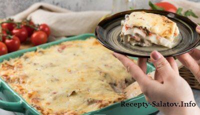 Итальянская лазанья с грибами и курицей видео рецепт