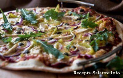 Итальянская пицца на тонком тесте пошаговый рецепт с фото